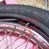 タイヤ交換3回目にして、チューブを傷つけずに行えた(ヨシ)